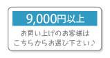 9000円以上プレゼント進呈